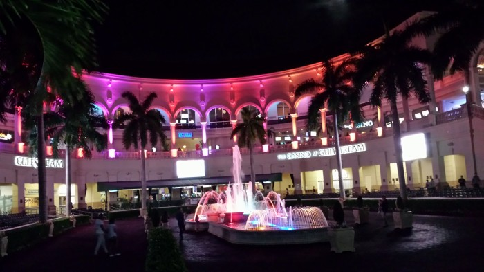 Colorful setting at GulfstreamPark after dark. (Craigslegz.com)