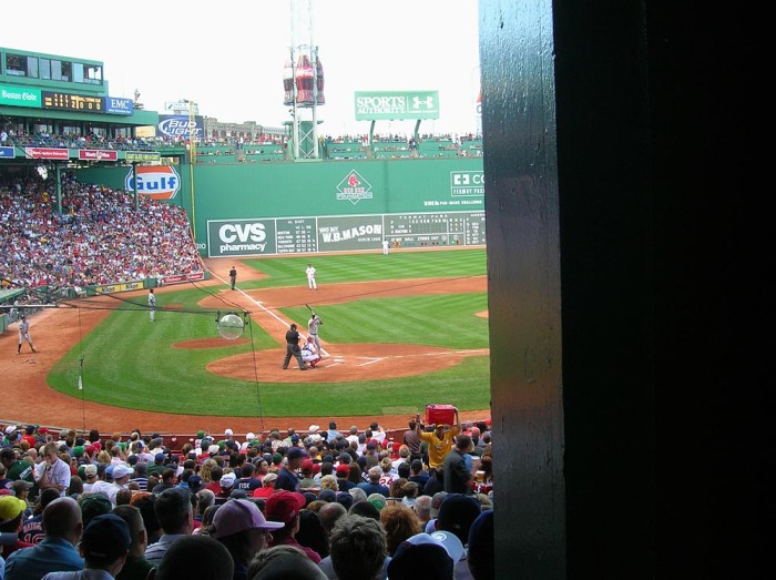 View obstructed by poles is a reality in some seats at Fenway Park. Craigslegz.com