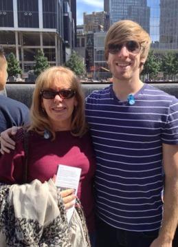 Fran and Glenn Davis at the 9/11 memorial in September, 2013.