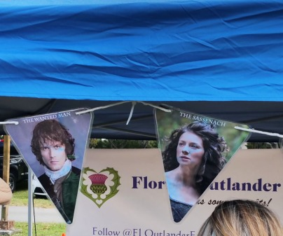 "Fans of the ""Outlander"" TV series had a booth at the Southeast Florida Scottish Festival. (Craig Davis/Craigslegz.com)"