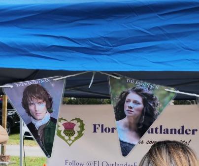 "Fans of the ""Outlander"" TV series had a booth at the Southeast Florida Scottish Festival. (Craig Davis/Craigslegz.com)"