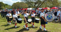 Colorful pageantry during the opening ceremony the the Southeast Florida Highland Games (Craig Davis/Craigslegz.com