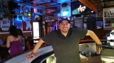 Andy Radjenovich is a bartender and good-will ambassador at 4th Base Restaurant. (Craig Davis/Craigslegz.com)
