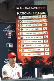Max Scherzer talks about strating for the National League in the 2017 All-Star Game in Miami. (Craig Davis/Craigslegzcom)