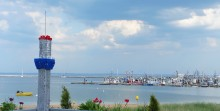 The dining room in the Lobster Pot Restaurant provides a scenic view of Provincetown Harbor. (Craig Davis/Craigslegz.com)